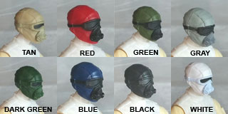 Head: Mask with Goggles & Breather colors