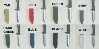 Sheath & Knife: Small Size colors